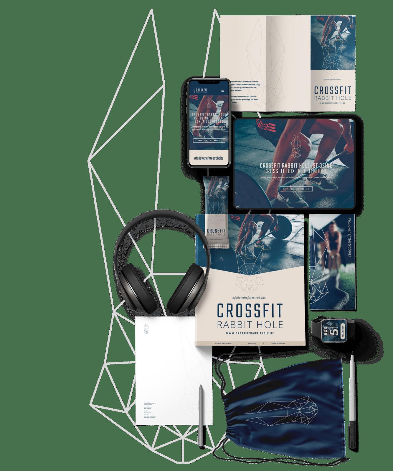 Logo- und Corporatedesign erstellen lassen: Komplettes Corporate Design Paket von Flyer, Logo und Styleguide. Das Beispiel wird mit einer Referenz dargestellt.